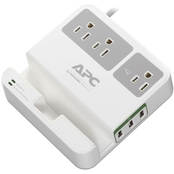 APC 3-Outlet SurgeArrest Surge Protector with 3 USB Ports