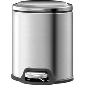 Simply Perfect Stainless Steel Oval Trash Bin, 5L