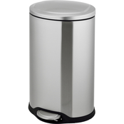 Simply Perfect Stainless Steel Oval Trash Bin with Lid, 40L