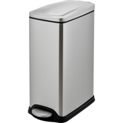 Simply Perfect Slim Trash Bin with Stainless Steel Lid 10L