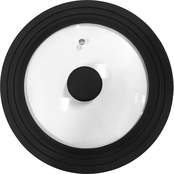 Elite Tempered Glass Lid with Black Silicone Trim