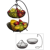 Mikasa Gourmet Basics Spindle 2 Tier Basket With Banana Hook