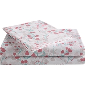 1888 Mills Peach & Oak Flower Vine Sheet Set