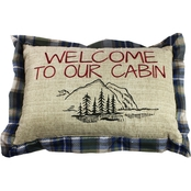 Realtree Welcome to Our Cabin Decorative 12 x 18 in. Pillow