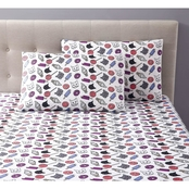 1888 Mills Oh Hello Cats & Junkfood Sheet Set
