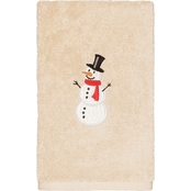 Linum Home Textiles Snowman Embroidered Hand Towel