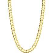 14K Yellow Gold 5.7mm Solid Curb Chain Necklace