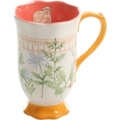 Gibson Home Life on the Farm Floral Cup 14 oz.