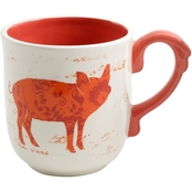 Gibson Home Life on the Farm Pig Cup 19 oz.