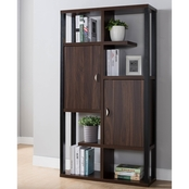Furniture of America Bourque Contemporary 2 Cabinet Open Back Bookcase