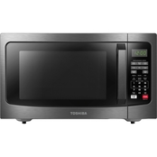Toshiba 1.2 Cu. Ft. Black Stainless Steel Microwave with Smart Sensor