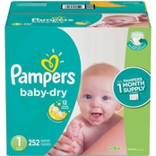 Pampers Baby Dry Sz1 OMS 252ct