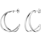 Calvin Klein Stainless Steel Outline Big Hoop Earrings