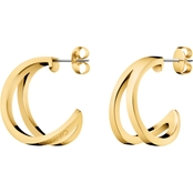 Calvin Klein Outline Stainless Steel Hoop Earrings