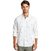 Nautica Casual Plaid Woven Button Down Shirt