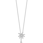 Roberto Coin 18K White Gold Small Diamond Palm Tree Pendant