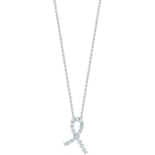 Roberto Coin 18K White Gold Diamond Hope Ribbon Pendant