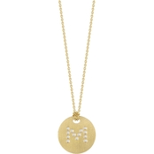 Roberto Coin 18K Yellow Gold Diamond Disc Letter M Pendant