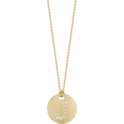 Roberto Coin 18K Yellow Gold Diamond Disc Letter