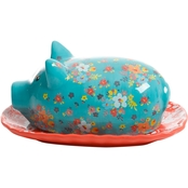 Gibson Home Life on the Farm Figural Pig Covered Butter Dish