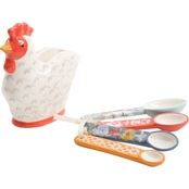 Gibson Home Life on the Farm Rooster Measure Spoon Set