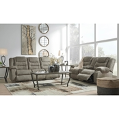McCade Reclining Sofa & Console Loveseat Set