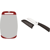 Starfrit 16 X 10 in. Antibacterial Cutting Board and 5 in. Ceramic Santoku Knife