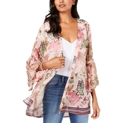 Style & Co. Printed Flutter Sleeve Kimono