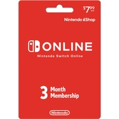 Nintendo Switch Online 3 Month Membership Card