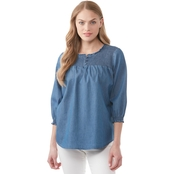 JW Denim Smocked Top