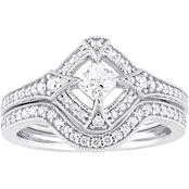 Diamore 10K White Gold 3/4 CTW Diamond Bridal Set