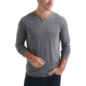 Lucky Brand Color Block Burnout Notch Tee