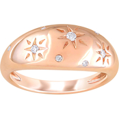 Diamore 14K Rose Gold 1/10 CTW Diamond Star Ring