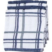 Kay Dee Designs Kitchen Basics Indigo Dish Cloth 4 pc. Set