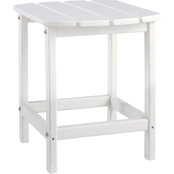 Rectangular End Table White