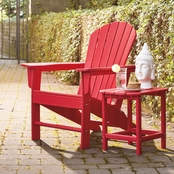 Signature Design by Ashley Adirondack Chair & End Table Set Red