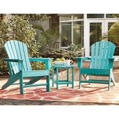 Signature Design by Ashley Adirondack Chairs (2) & End Table Set Turquoise