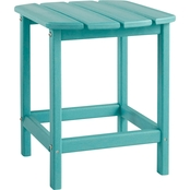 Rectangular End Table Turquoise