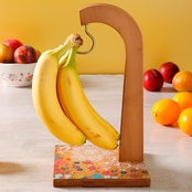 Gibson Home Life on the Farm Bamboo Banana Holder