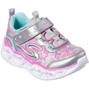 Skechers Toddler Girls Heart Lights Sneakers