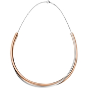 Calvin Klein Rose Goldtone Stainless Steel Double Necklace
