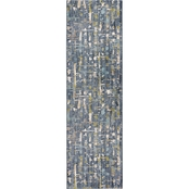 Karastan Expressions by Scott Living Wellspring Admiral Blue 2.4x7.10 Area Rug