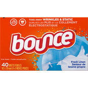 Bounce Fabric Softener Dryer Sheets Fresh Linen Scent 40 ct.