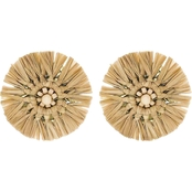 Panacea Raffia Post Earrings