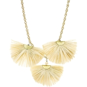 Panacea Raffia Statement Necklace