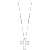 Roberto Coin 18K White Gold Small 1/7 CTW Diamond Cross Pendant