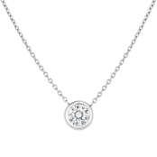 Roberto Coin 18K White Gold Diamond Station Pendant