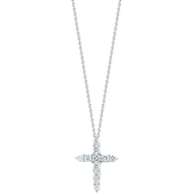 Roberto Coin 18K White Gold Diamond Cross Pendant