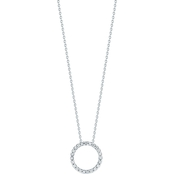 Roberto Coin 18K White Gold XS 1/10 CTW Diamond Circle Pendant