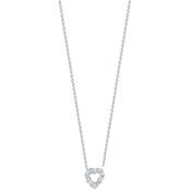 Roberto Coin 18K White Gold Diamond Baby Heart Pendant